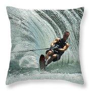 Water Skiing Magic Of Water 10 Throw Pillow
