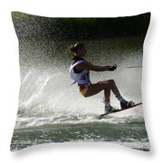 Water Skiing Magic Of Water 16 Throw Pillow