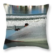 Water Skiing Magic Of Water 17 Throw Pillow