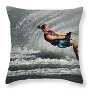 Water Skiing Magic Of Water 23 Throw Pillow