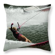 Water Skiing Magic Of Water 28 Throw Pillow
