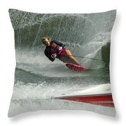 Water Skiing Magic Of Water 29 Throw Pillow