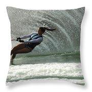 Water Skiing Magic Of Water 32 Throw Pillow