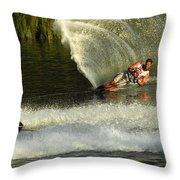 Water Skiing Magic Of Water 33 Throw Pillow