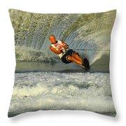 Water Skiing Magic Of Water 4 Throw Pillow