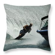 Water Skiing Magic Of Water 6 Throw Pillow