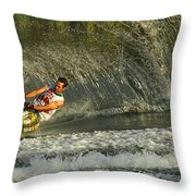 Water Skiing Magic Of Water 8 Throw Pillow