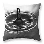 Water Splash In Black And White Throw Pillow