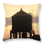 Water Tower At Sunset Throw Pillow