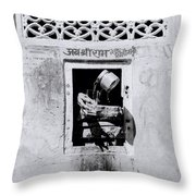 Water Vendor In Jaipur Throw Pillow