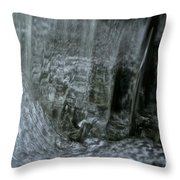 Water Wall And Whirling Bubbles Throw Pillow