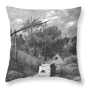 Water Well, C1880 Throw Pillow