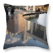 Lincoln Center Reflections Throw Pillow
