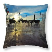 Water Works Throw Pillow