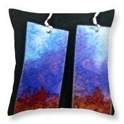 Watercolor Earrings Artists Favorite Throw Pillow