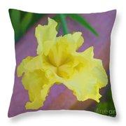 Watercolor Iris Throw Pillow