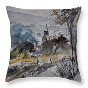 Watercolor Lesterny Throw Pillow