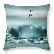 Waterdrop1 Throw Pillow