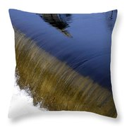 Waterfall And Reflections Throw Pillow