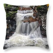 Waterfall At Ricketts Glen Throw Pillow
