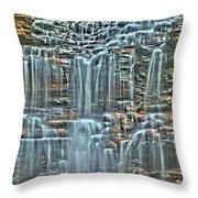 Waterfall Highights Throw Pillow