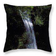 Waterfall In A Forest, Glencar Throw Pillow
