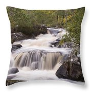 Waterfall In The Highlands Throw Pillow
