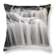 Waterfall In The Woods Throw Pillow