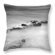 Waterfalls On The Rocks M Throw Pillow