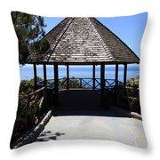 Waterfront Gazebo Throw Pillow