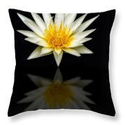 Waterlily And Reflection Throw Pillow