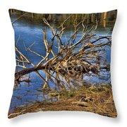 Waterlogged Tree Throw Pillow