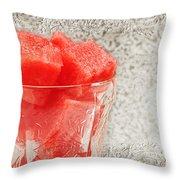 Watermelon Parfait 3 Throw Pillow