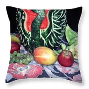 Watermelon Swan Throw Pillow