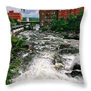Waterpower Throw Pillow