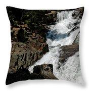 Waters Flow Glen Alpine Falls Throw Pillow