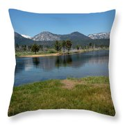 Waters Lead To Lake Tahoe Throw Pillow