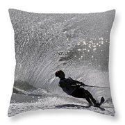 Waterskiing 1 Throw Pillow