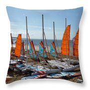 Watersports In La Baule Throw Pillow