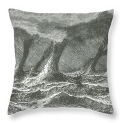 Waterspouts Throw Pillow