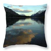 Waterton Lake Sunset Canada Throw Pillow