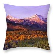 Waterton Lakes National Park, Alberta Throw Pillow