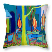 Watertown Cafe Throw Pillow