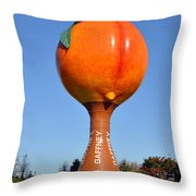 Watery Peach Throw Pillow