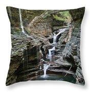 Watkins Glen Bridge Throw Pillow