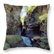 Watkins Glen Spring One Throw Pillow