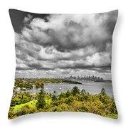 Watson Bay Sydney Harbor Throw Pillow