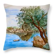 Watson Lake Prescott Arizona Peaceful Waters Throw Pillow