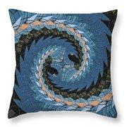 Wave Mosaic. Throw Pillow