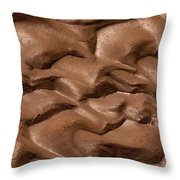 Wave Of Mud Throw Pillow